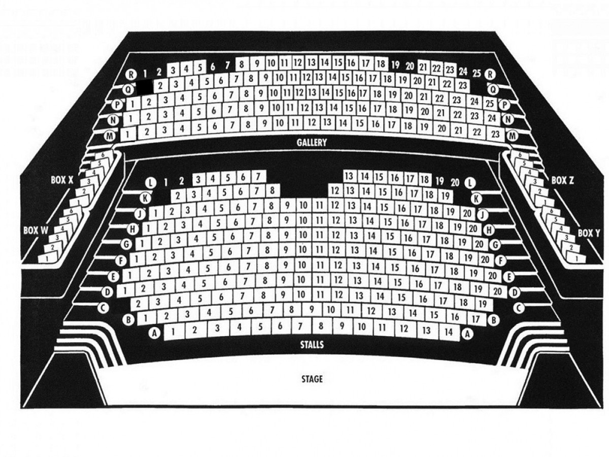 Auditorium seating plan